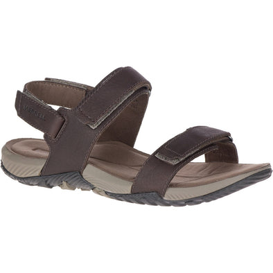 Merrell Mens Terrant Backstrap Leather Brown Sandal