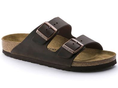Birkenstock Unisex  Arizona Sandal -  Oiled Leather Habana