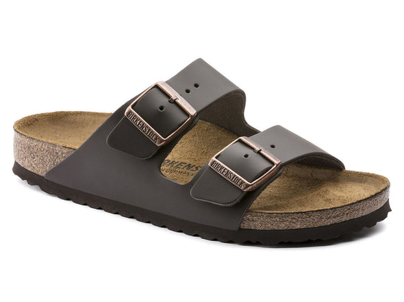Birkenstock Unisex Arizona Sandal - Smooth  Leather Dark Brown