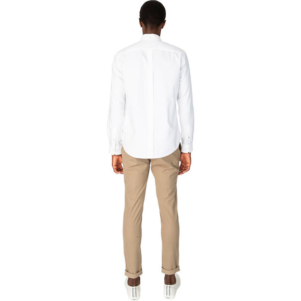 Ben Sherman Oxford Long Sleeve Shirt - White