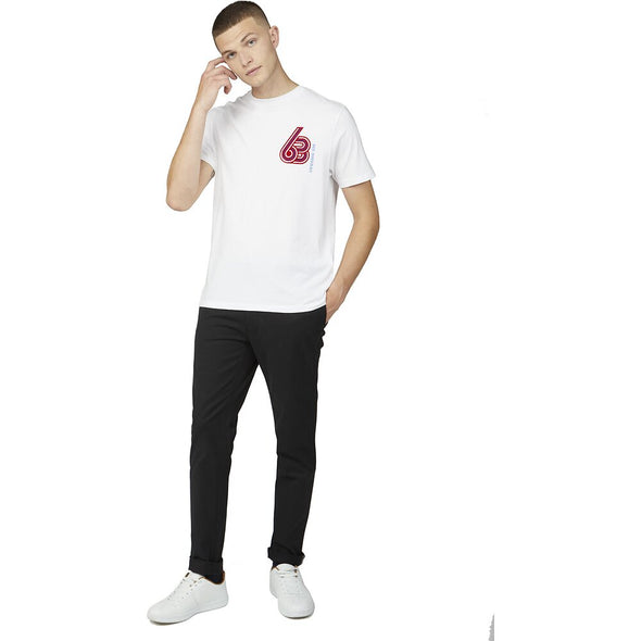 Ben Sherman Sport 63 Left Crest Tee - White