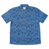 Bamboo Fibre Navy Leaf Short Sleeve Shirt