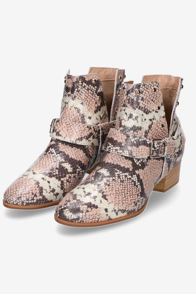Hey Monday Cassie Snakeskin Boot