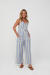 Kaja Derby Jumpsuit - Blue Stripe