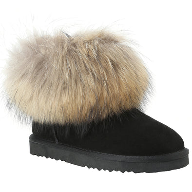 Ladies Emma Fur and Sheepskin Slipper
