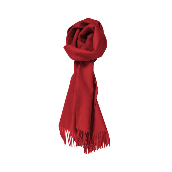 100% Lambs Wool Scarf - Red