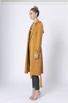 Broken Travels Long Silk Look Coat