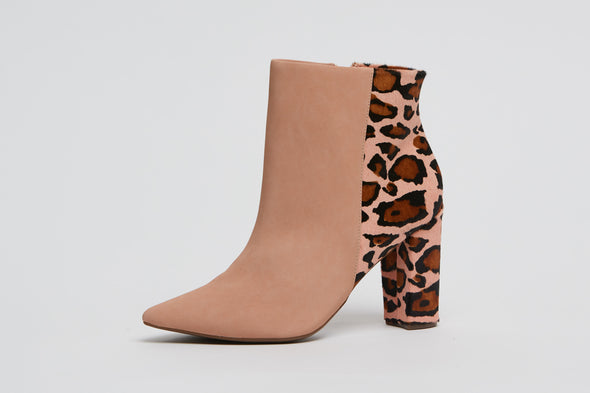 Hey Monday Peaches Leopard Boot