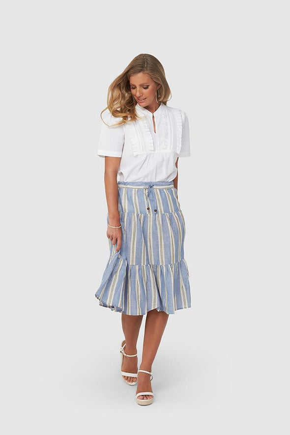 Kaja Havanna Skirt - Blue Stripe