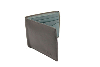 Black & Teal Slimline Soft Leather Wallet