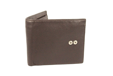 Leather Bi-fold Note Zip Wallet