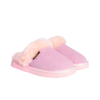 Juliet Sheepskin & Suede Slide Ladies Slipper - Pink