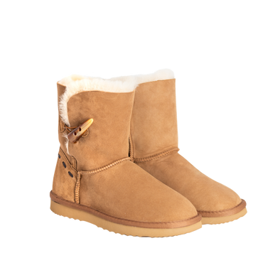 Matakana Button Up Sheepskin Ladies Boot