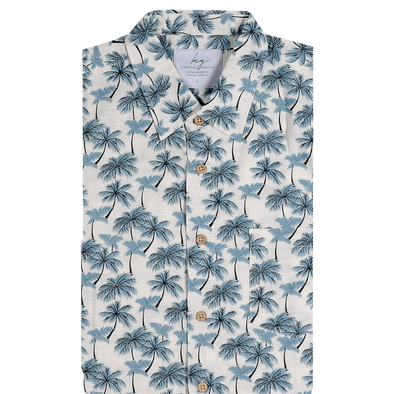 Bamboo Fibre Paradise Palms Short Sleeve Shirt