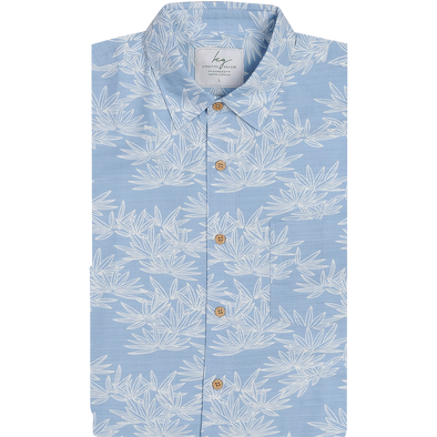 Bamboo Fibre Bamboo Leaf Short Sleeve Shirt
