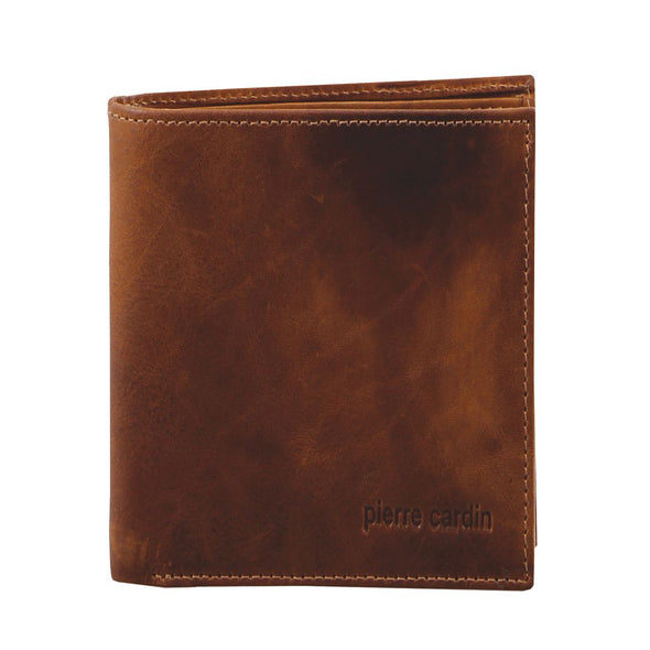 Rustic Leather Men's Tall Bi-Fold Wallet