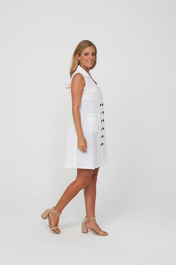Kaja Roanna Dress - White