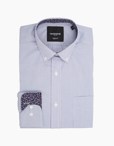 Rembrandt Awaroa Blue Micro-Check Shirt