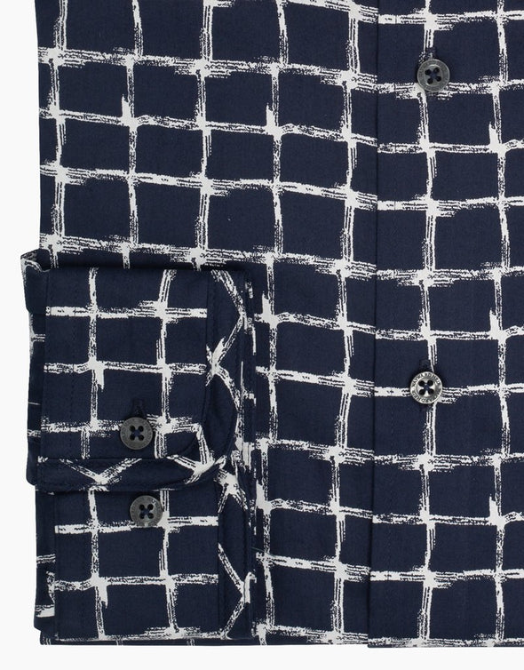 Wayward Heir Navy Check Print Brooklyn