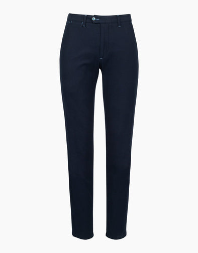 Navy Soho Textured Trouser
