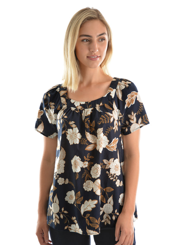 Womens Viole Print Top