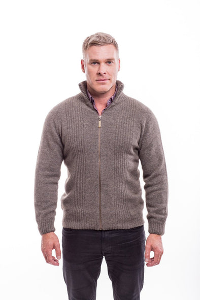 Men's Possum Merino Rib Front Jacket
