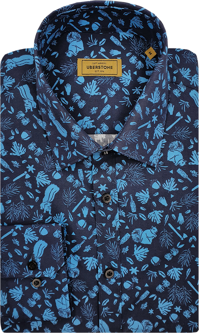 Uberstone Long Sleeved Shirt - Blue Forest