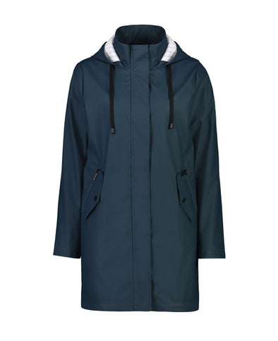 Billie Long Raincoat - Teal