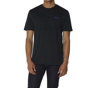 Black Ben Sherman Embroidered Logo Tee