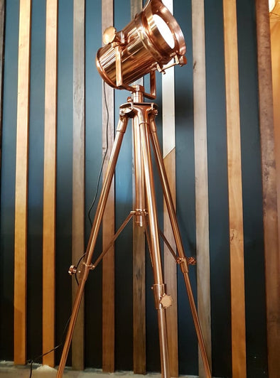 Spotlight Floor Tripod - Copper