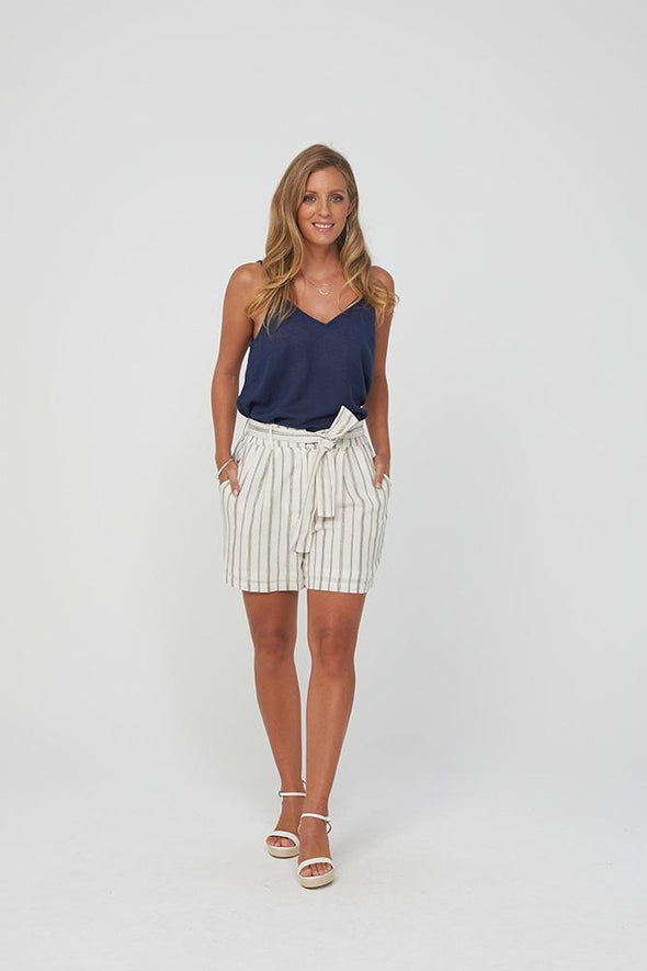 Kaja Kristy Shorts - Gold Stripe