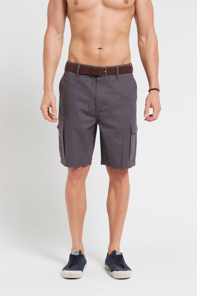 Hemp Cotton Cargo Shorts - Dark Grey