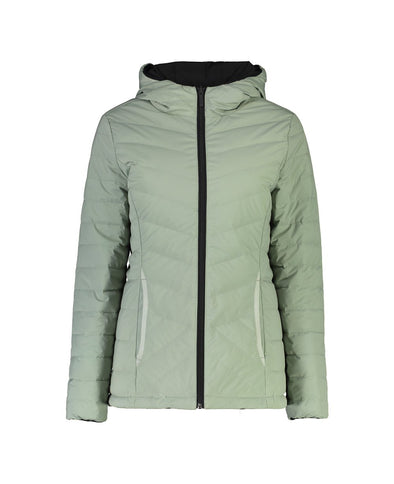 Jill Reversible Rain Jacket - Black & Sage