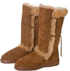 Milford Tie Up Sheepskin Ladies Boot