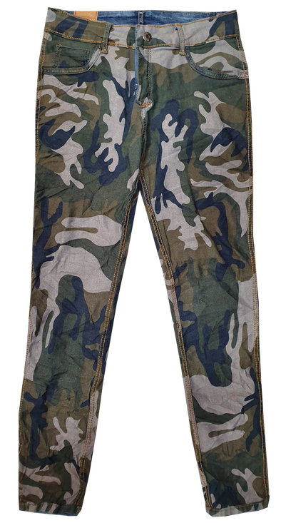 Womens Reversible Jeans - Navy & Green Camo