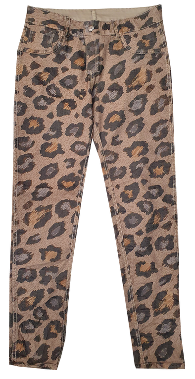 Womens Reversible Jeans - Tahira Cheetah