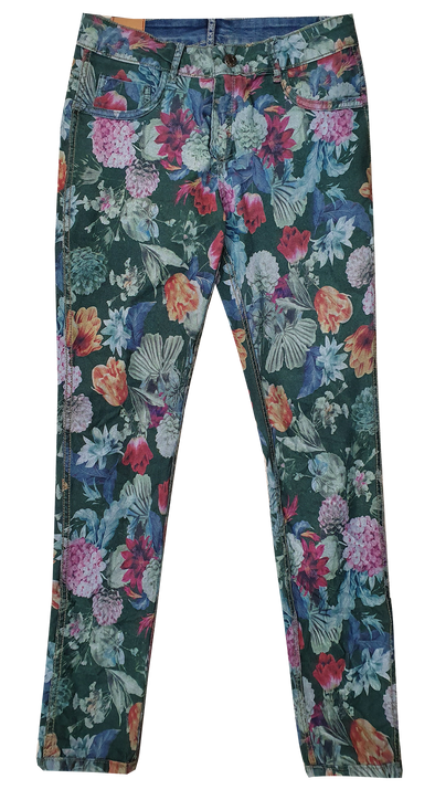 Womens Reversible Jeans - Colourful Print