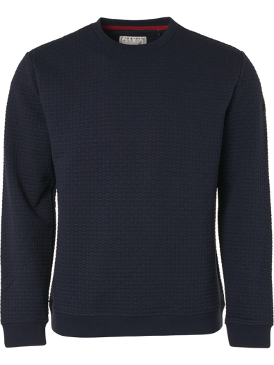 No Excess Sweatshirt Crew Neck Woven Detail - Night
