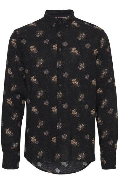 Blend Black Floral Long Sleeve Shirt