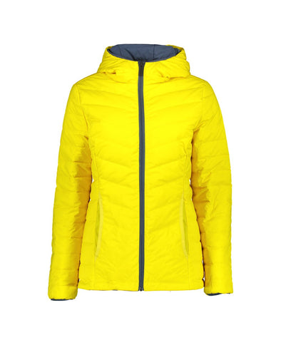 Jill Reversible Rain Jacket - Blue Steel & Kowhai