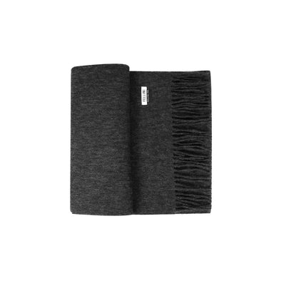 100% Lambs Wool Scarf - Charcoal