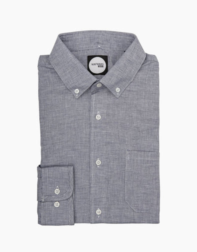 Sharkskin Texture Kelburn Long Sleeve Shirt