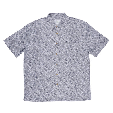 Bamboo Fibre Navy Illusions Short Sleeve Shirt
