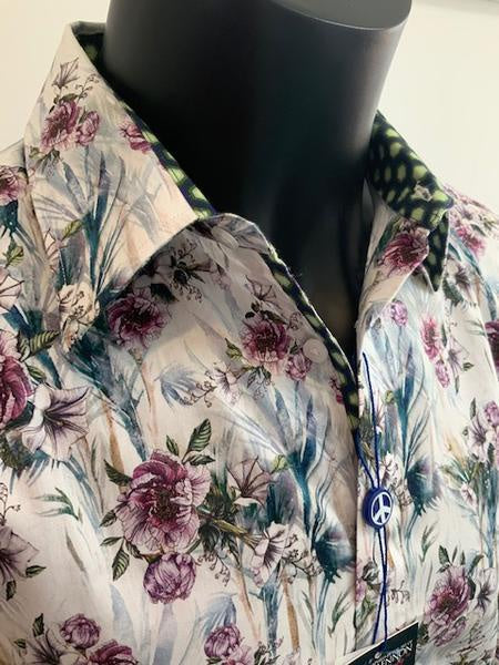 John Lennon Watercolour Flora Print Long Sleeve Shirt