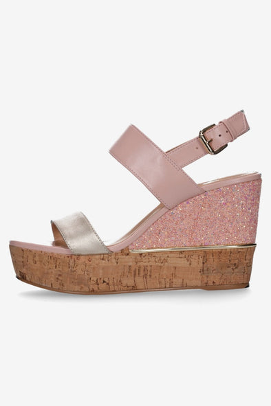 Hey Monday Zaria Blush & Candy Glitter High Heel