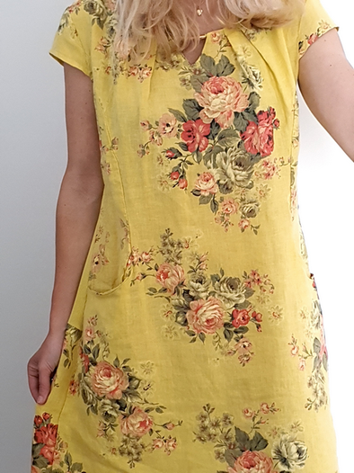 Helga May Gold Bar Queen Dress: High Tea - Lemon