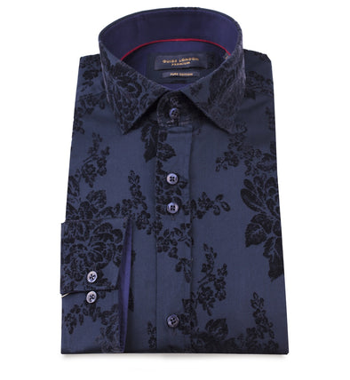 Guide London Long Sleeve Shirt - Embossed Floral