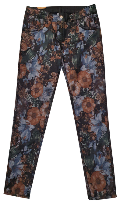 Womens Reversible Jeans - Black & Bouquet