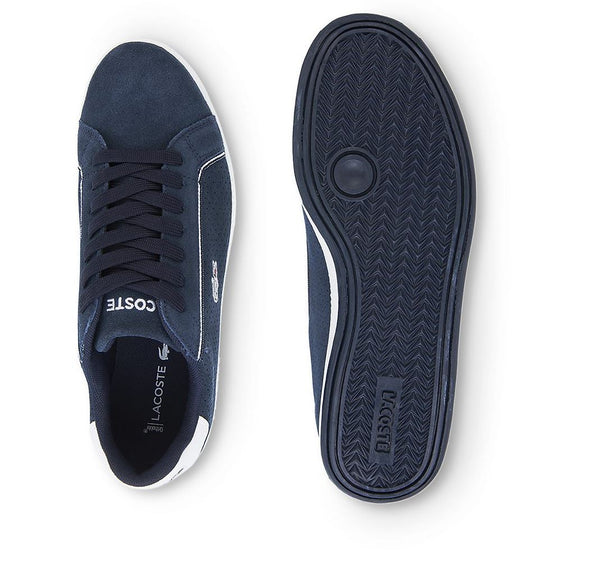 Lacoste Navy Suede Graduate Trainer