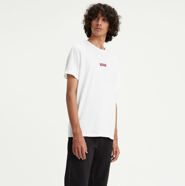 Levi's Red Emboidered White Logo Tab Tee